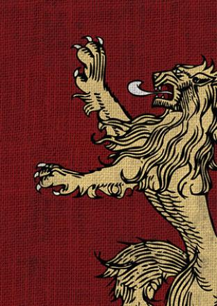 Fantasy Flight - Game of Thrones House Lannister Sleeves 50ct