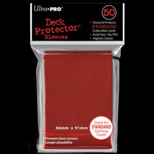 Ultra Pro Standard Size 50 Ct Sleeves Red