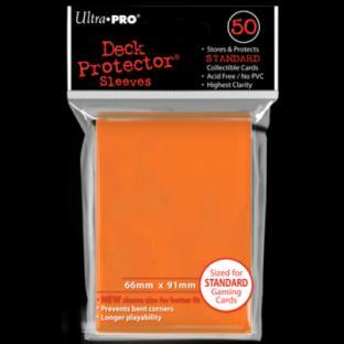 Ultra Pro Standard Size 50 Ct Sleeves Orange