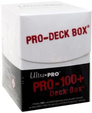 Ultra Pro 100+ Pro White Deck Box