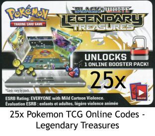36 Pokemon TCG Online Codes - Legendary Treasures