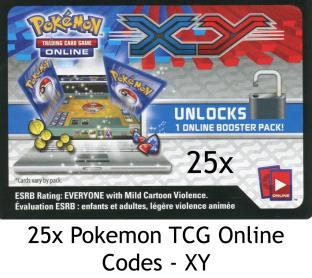 36 Pokemon TCG Online Codes - XY