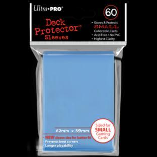 Ultra Pro Mini Card Sleeves 60 Ct Light Blue