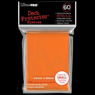 Ultra Pro Mini Card Sleeves 60 Ct Orange