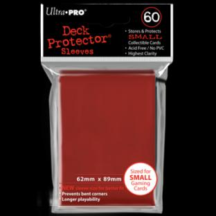 Ultra Pro Mini Card Sleeves 60 Ct Red