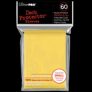 Ultra Pro Mini Card Sleeves 60 Ct Yellow