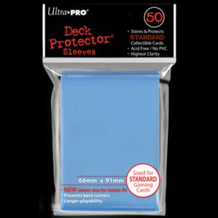 Ultra Pro Standard Size 50 Ct Sleeves Light Blue