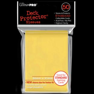 Ultra Pro Standard Size 50 Ct Sleeves Yellow