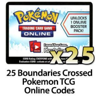 25 Pokemon TCG Online Codes - Boundaries Crossed