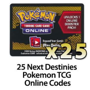 25 Pokemon TCG Online Codes - Next Destinies