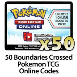 50 Pokemon TCG Online Codes - Boundaries Crossed