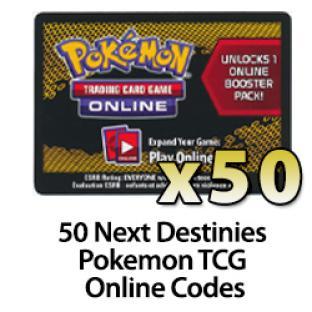 50 Pokemon TCG Online Codes - Next Destinies