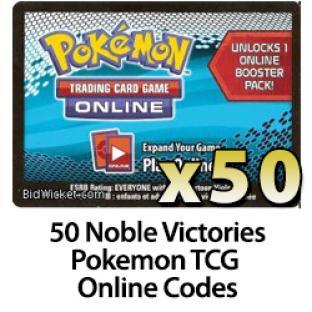 50 Pokemon TCG Online Codes - Noble Victories