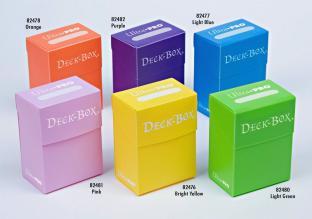 Ultra-Pro Set of Six Deck Boxes Orange, Purple, Light Blue, Pink, Yellow, Light Green
