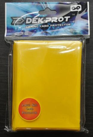 Dek-Prot Sleeves - Magic Size - 60 Count - Sunflower Yellow