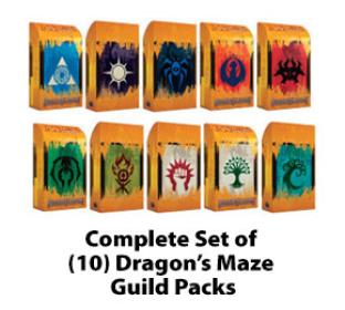 Complete Set of (10) Dragon's Maze Guild Packs