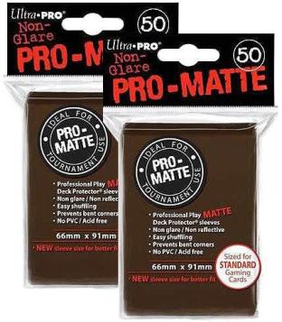 100 Ultra Pro Brown PRO-MATTE Deck Protectors Sleeves