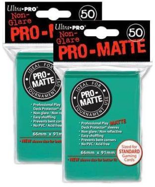 100 Ultra Pro Aqua PRO-MATTE Deck Protectors Sleeves Standard