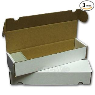 3 BCW 800 Ct box