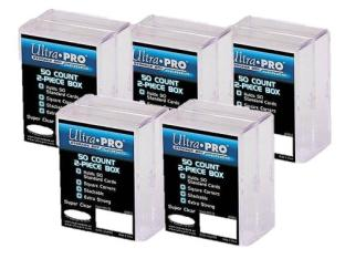 ULTRA PRO 2-Piece Box 50 Ct PLASTIC STORAGE BOX x10