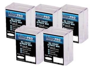 ULTRA PRO 2-Piece Box 50 Ct PLASTIC STORAGE BOX x10