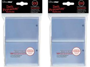 200 Ultra-Pro Clear Deck Sleeves 2-Packs Standard Magic the Gathering Size