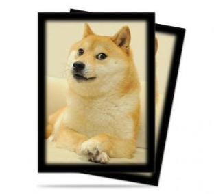 50 Ultra Pro Doge Standard Size Card Sleeves MTG Deck Protectors