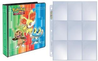 Pokemon X Y 3-Ring Binder with 25 Platinum Ultra-Pro 9-Pocket Pages
