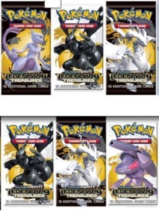 6 LEGENDARY TREASURES Booster Packs Pokemon