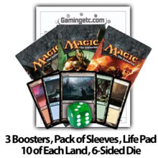Magic 2012 Draft Kit - 3 Packs, 50 Sleeves, 50 Basic Lands, 1 Die, Life Pad