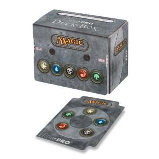 Ultra Pro - Mana Symbols Deck Box w/Divider & Life Counter