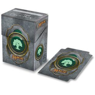 Ultra Pro - Mana Symbol Deck Box w/Divider - Green Mana