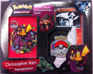 Pokemon 2011 World Championship Deck - Reshiphlosion - Christopher Ken