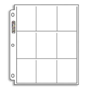 Ultra Pro Platinum 9 Pocket 8x11 Binder Pages Single Page