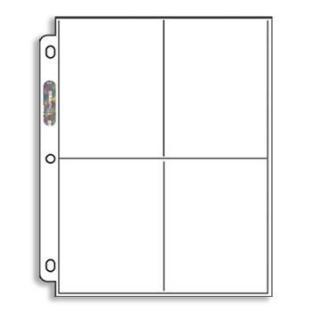 Ultra Pro Platinum 4 Pocket 5x7 Binder Single Page