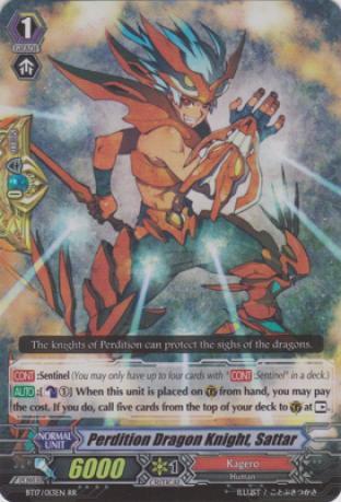 Perdition Dragon Knight, Sattar