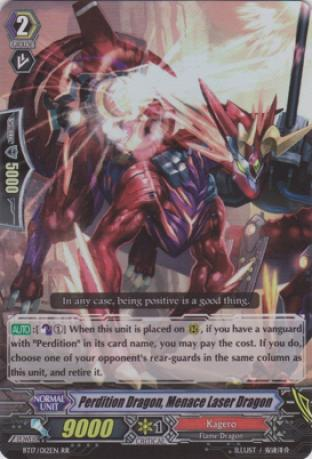 Perdition Dragon, Menace Laser Dragon