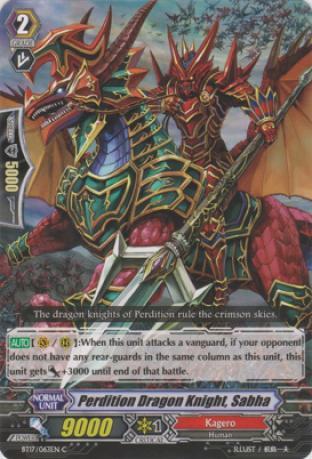 Perdition Dragon Knight, Sabha