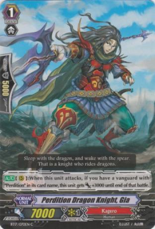 Perdition Dragon Knight, Gia
