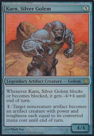 Karn Silver Golem (Oversized Foil Card)