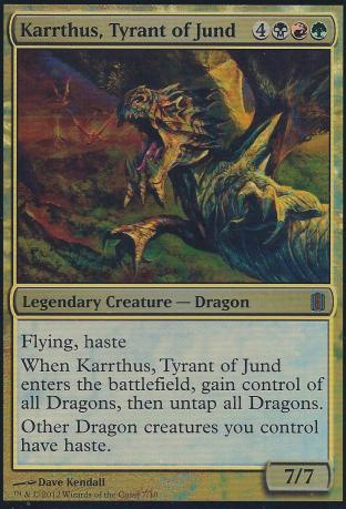 Karrthus Tyrant of Jund (Oversized Foil Card)