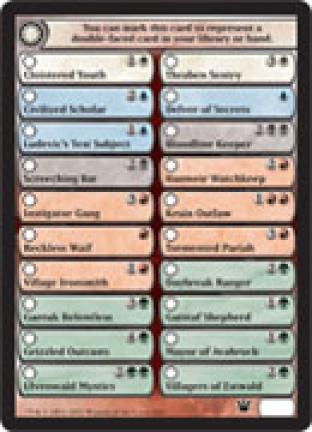 Innistrad Check List Card