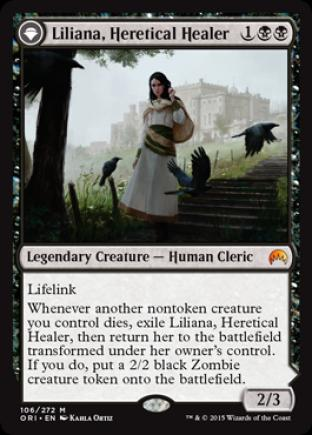 Liliana, Heretical Healer (Liliana, Defiant Necromancer)