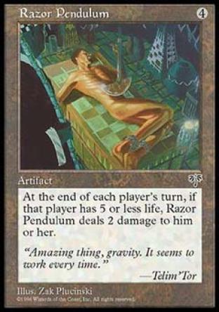 Razor Pendulum