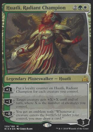 Huatli Radiant Champion (Prerelease)