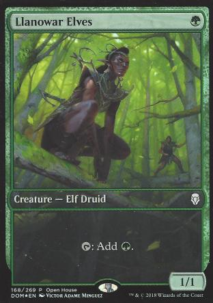 Llanowar Elves (Open House Full Art)