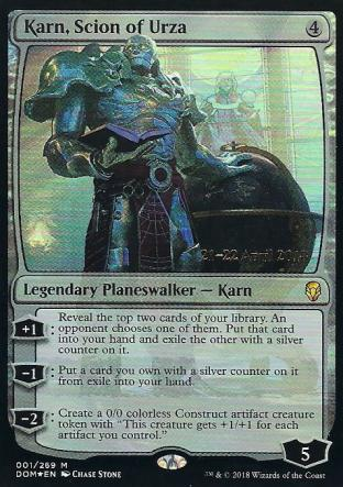 Karn Scion of Urza Prerelease