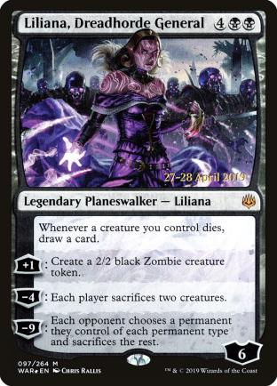 Liliana Dreadhorde General Prerelease