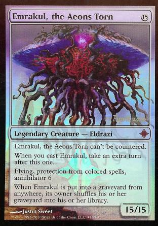 Emrakul, the Aeons Torn (ROE Prerelease Card)