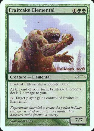 Fruitcake Elemental (WOTC Employee Card)